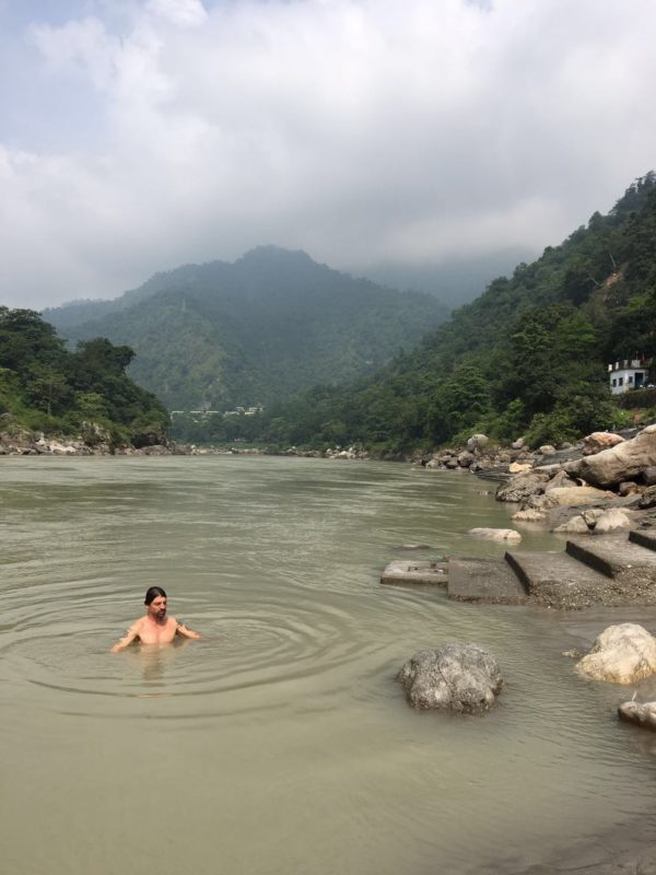 Bathing in sacred Ganga, Rishikesh, India