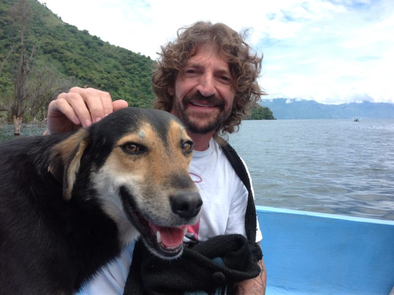 Me & Rainbow, Lake Atitlan, Guatemala