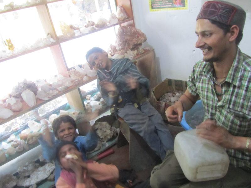 Teaching kids devotional songs, Himachal Pradesh, India